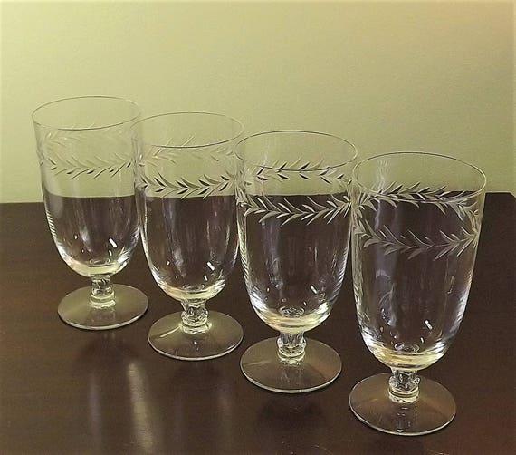 Set Of 4 Crystal Juice Glasses Fine Crystal Stemware Wine Etsy