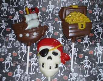 Chocolate Pirate Party Lollipops