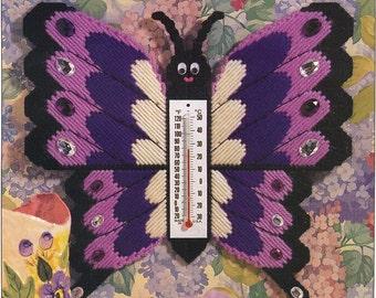 Easy Plastic Canvas PatternsPurple Butterfly Thermometer Plastic Canvas Patterns