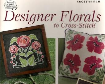 Cross Stitch Patterns, Designer Florals to Cross Stitch,Cross Stitch Pillow, Cross stitch Vase Wrap,Cross Stitch Napkin Ring,