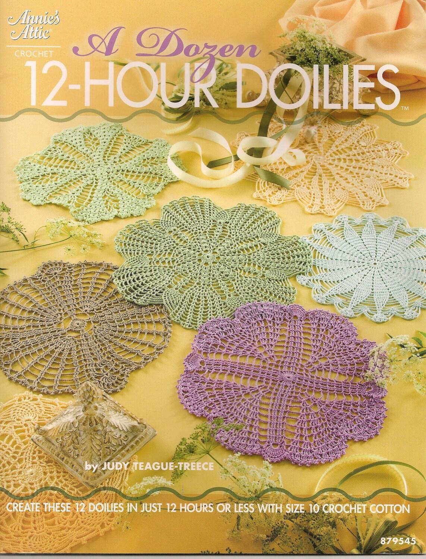 Muster-Muster Buch ein Dutzend 12 Stunden Häkeldeckchen