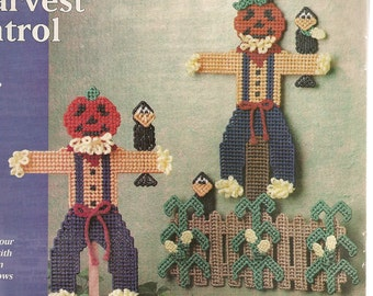 Pumpkin Scarecrows Plastic Canvas Pattern