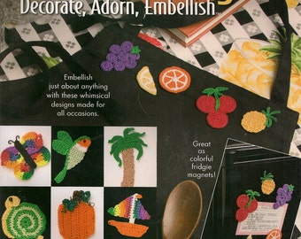 Crochet Patterns Easy Crochet Patterns Crochet How To BookLittle Things Decorate Adorn Embellish Crochet Pattern  Book