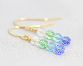 Custom Grandma Earrings, Family Jewelry, Birthstone Earrings for Mom, Mother, Christmas Gift for Her, Sterling Silver, Gold, Rose Gold, Drop