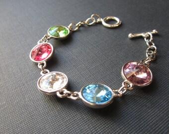 Grandmother's Bracelet, Crystal Birthstone Bracelet, Custom Personalized Birthstone Jewelry, Mother's Bracelet, Custom Jewelry