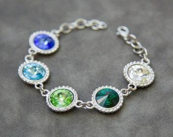 Custom Birthstone Bracelet, Mother's Bracelet, Grandmother Gift for Mom Birthstone Jewelry, Grandmother's Bracelet