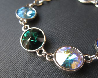 Family Birthstone Bracelet, Mothers Day from Son, Crystal Grandmother's Jewelry, Mother's Bracelet, Personalized Jewelry