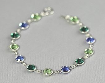 Mother's Bracelet, Custom Crystal Birthstone Bracelet, Mother's Day, Birthstone Jewelry Grandmother's Bracelet
