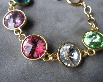 Mother's Jewelry, Birthstone Bracelet, Mother's Day Jewelry Gift, Grandmother's Bracelet, Custom Personalized Jewelry, Mother's Bracelet