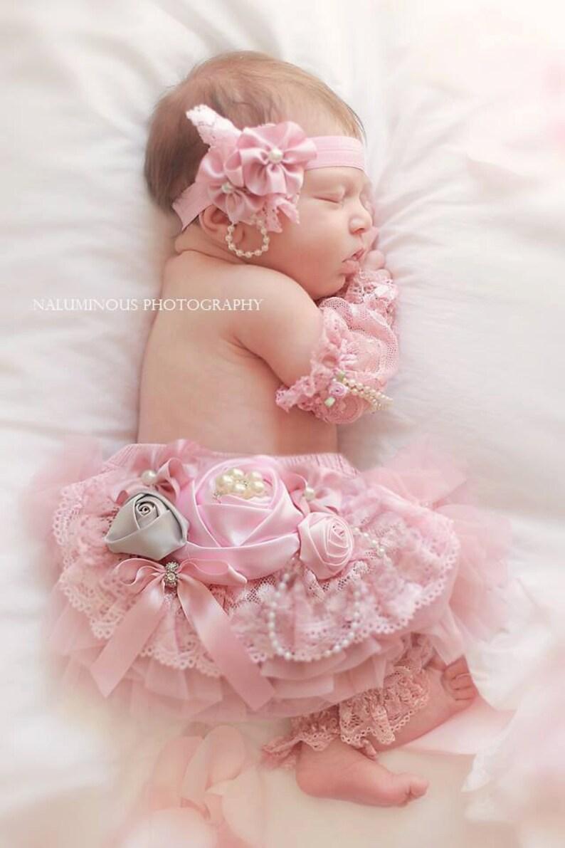 lace elastic headband with flower for baby girl infant photoshoot etsy
