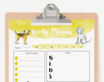 8cc043c1d5a14 Daily Planner Printable - Dog Planner Pages - To Do List Planner Printable  - Digital Planner PDF Download - Daily Planner Dog