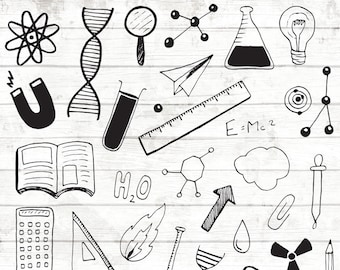 Science clipart - mad scientist clip art - Science Party Props - Little Scientists - Science Illustration - Science vector art - 85