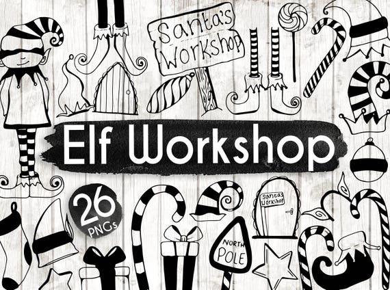 Christmas Elf On The Shelf Clipart.Christmas Elves Clipart Elf On A Shelf Clipart Christmas Planner Stickers Christmas Santa Clipart Planner Vector Art Bw162