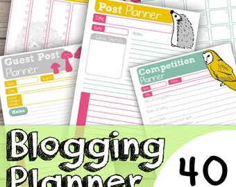Blog Planner Printable - Blog Planner Download - Blog Kit - Blogger Planner Printable - Instant Blogging Planner Printable