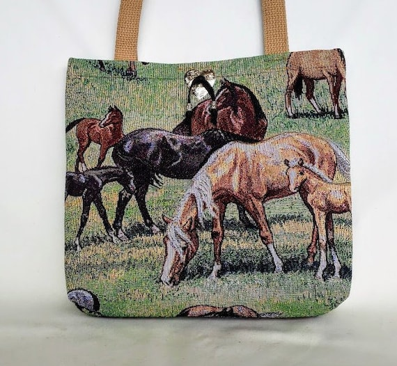 Gift Ready to Ship Tote Bag with Pockets Free Shipping! Southwestern Tapestry Tote Bag