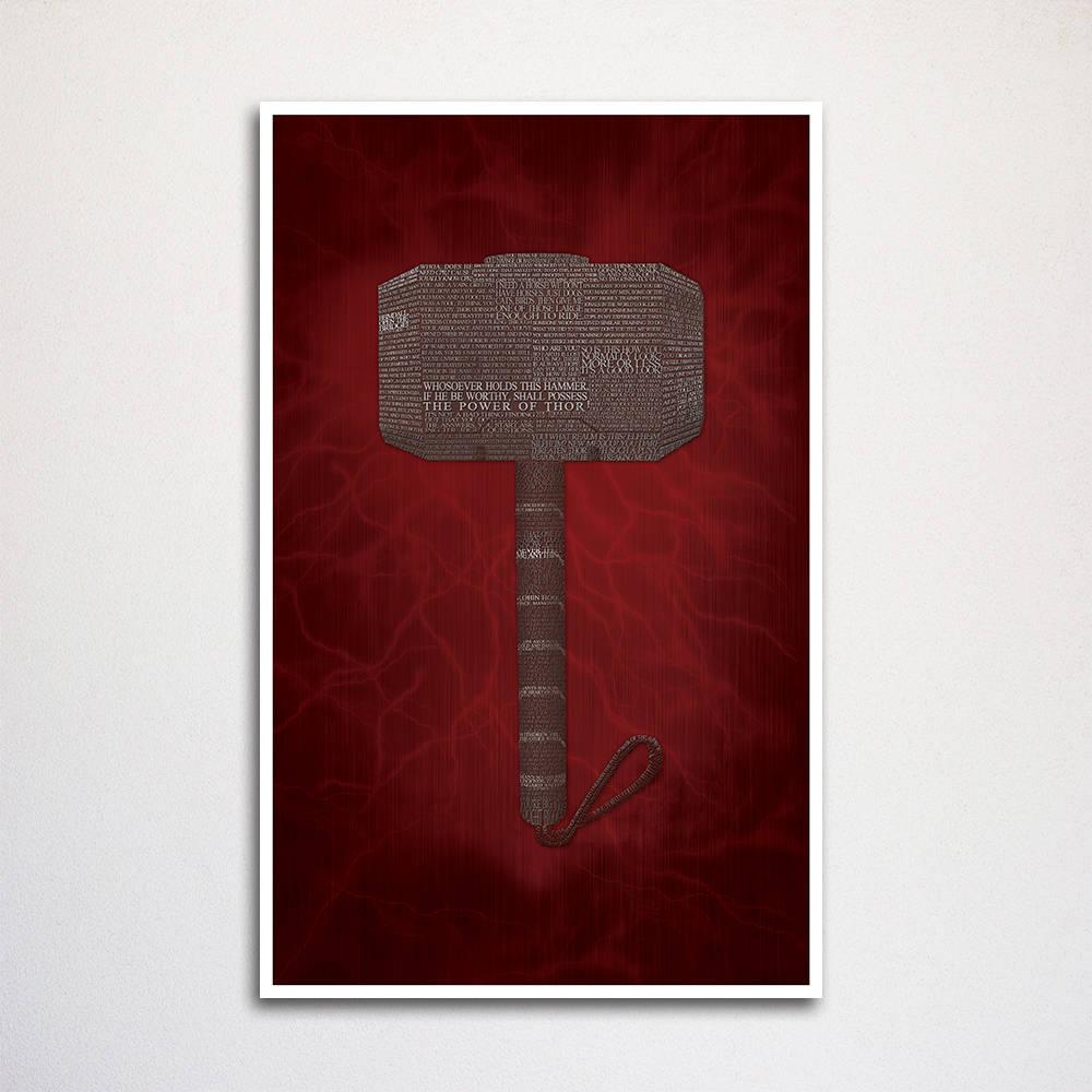 Thor Wort Kunstdruck 11 x 17 Thor Zitate Wohnkultur | Etsy