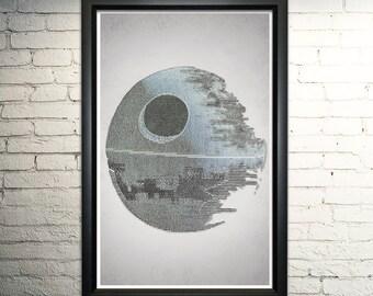 """Retour de la copie d'art mot Jedi - 11 x 17"""" encadré"""