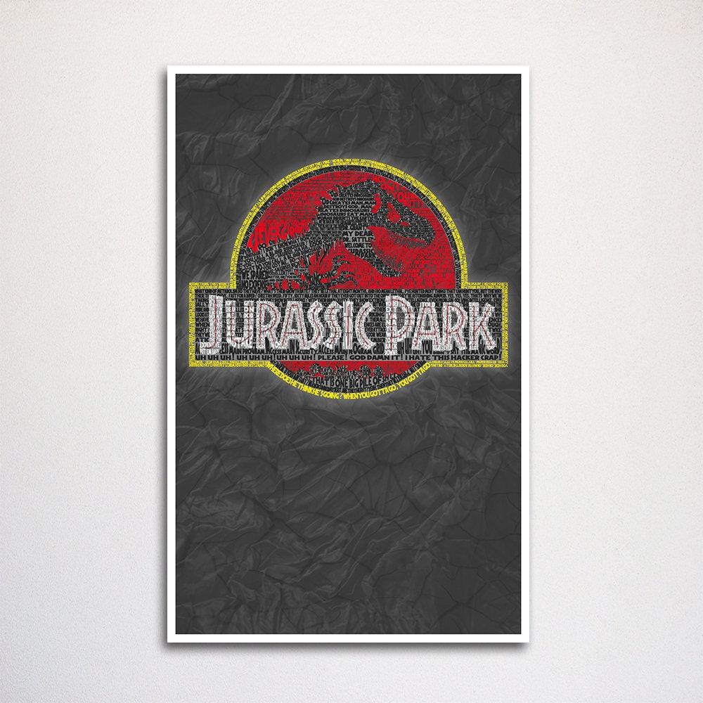 Jurassic Park Wort Kunstdruck 11 x 17