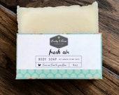 Body Soap - Fresh Air (Organic Soap, Natural Soap, Organic Lard, Lye Soap, Handmade, Dry Skin, Eucalyptus, Peppermint, Birthday Gift)