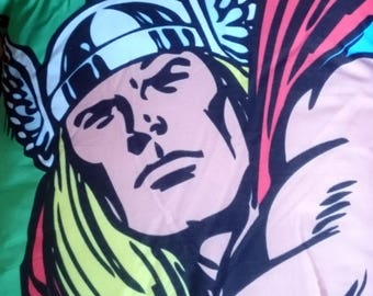 Thor asgaard face, retro, cushion, pillow, marvel, super hero, character cushion, pillow