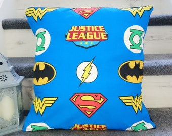 Justice League DC comic character logos windows characterlogos multi cushion covers