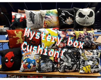Mystery box pillow cushion cover UK anime comic handmade Unboxing character