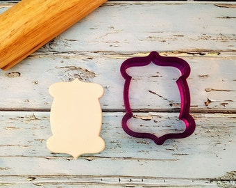 bc3ea309 Mandy Plaque Cookie Cutter and Fondant Cutter and Clay Cutter