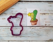 Michelle 39 s Double Cactus in a Pot 4 Cookie Cutter and Fondant Cutter and Clay Cutter