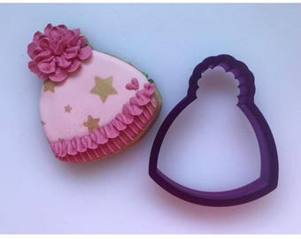 Miss Doughmestic Baby Cap or Hat Cookie Cutter and Fondant Cutter and Clay Cutter
