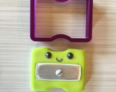 Pencil Sharpener or Crayon Sharpener Cookie Cutter and Fondant Cutter and Clay Cutter