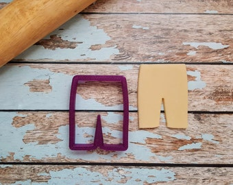 Jean Shorts or Shorts Cookie Cutter or Fondant Cutter and Clay Cutter
