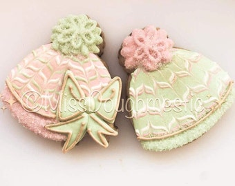 Miss Doughmestic Baby Cap with Bow or Baby Hat with Bow Cookie Cutter and Fondant Cutter and Clay Cutter