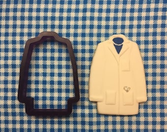 Lab Coat or Sports Coat Cookie Cutter and Fondant Cutter and Clay Cutter