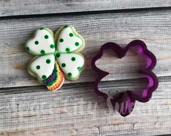 Lucky Clover Four 4 Leaf Clover Cookie Cutter and Fondant Cutter and Clay Cutter