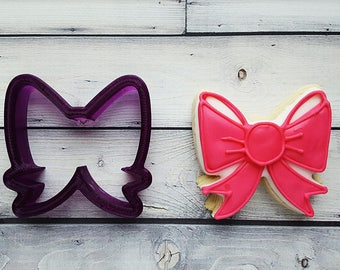Miss Doughmestic Bow Cookie Cutter and Fondant Cutter and Clay Cutter