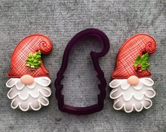 Gnome #4 or Santa Cookie Cutter and Fondant Cutter and Clay Cutter