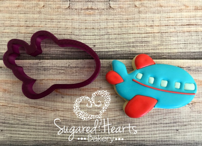 Airplane #3 Cookie Cutter and Fondant Cutter