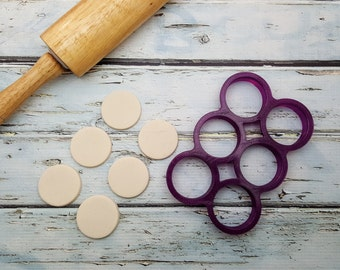 Multi 6 Circle Cookie Cutter and Fondant Cutter and Clay Cutter