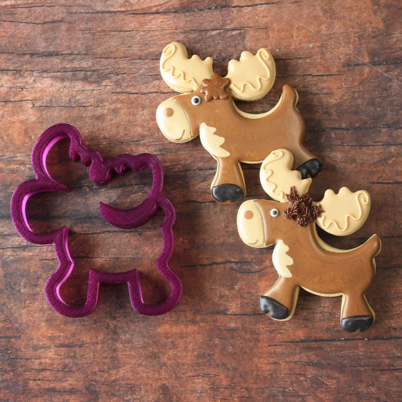 Lilaloa Moose or Christmas Moose or Reindeer Cookie Cutter or image 0