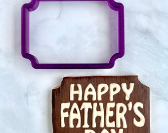Logan Plaque Cookie Cutter and Fondant Cutter and Clay Cutter