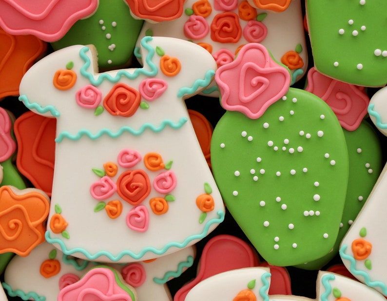 Sweet Sugarbelle CACTUS with Flower Cookie Cutter and Fondant image 0