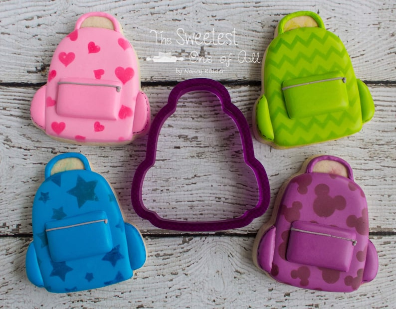 Backpack or Back Pack Cookie Cutter and Fondant Cutter and image 0