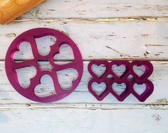 Multi-Mini Heart Cookie Cutter and Fondant Cutter and Clay Cutter