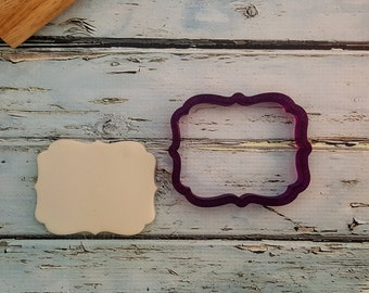Reese Plaque Cookie Cutter and Fondant Cutter and Clay Cutter