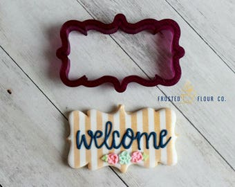 Original Plaque Cookie Cutter and Fondant Cutter and Clay Cutter