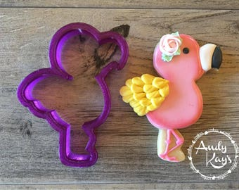 Andy Kay's Flamingo Cookie Cutter and Fondant Cutter and Clay Cutter