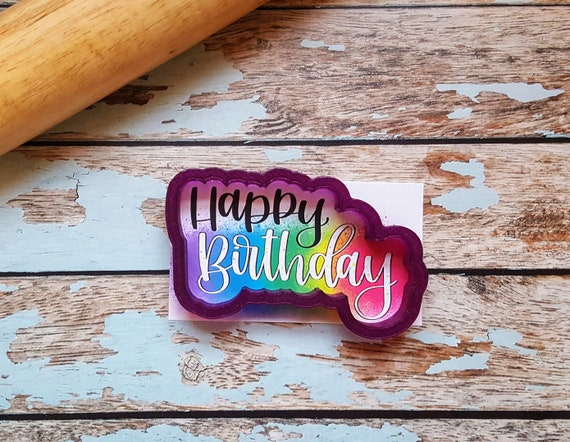 Happy Birthday Fondant Cutter