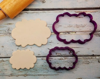 Lisa #5 Plaque Cookie Cutter and Fondant Cutter and Clay Cutter