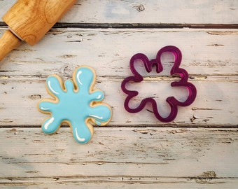 Water Splash or Paint Splatter Cookie Cutter and Fondant Cutter and Clay Cutter
