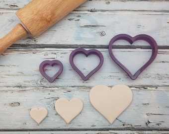 Heart Cookie Cutter and Fondant Cutter and Clay Cutter